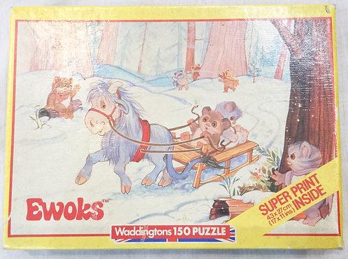 Vintage Star Wars Ewoks 150 Piece Puzzle 1984