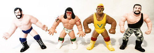 Vintage WWF Mini Figure Set x 4