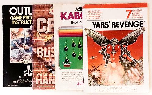 Atari 2600 Instructions Outlaw Crime Busters Kaboom Yars' Revenge Set