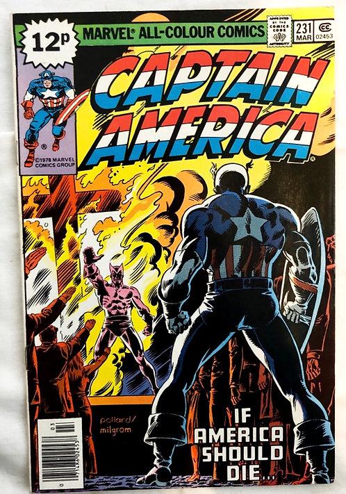 Marvel Captain America #231 1978 March