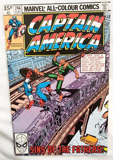 Marvel Captain America #246 1980 June