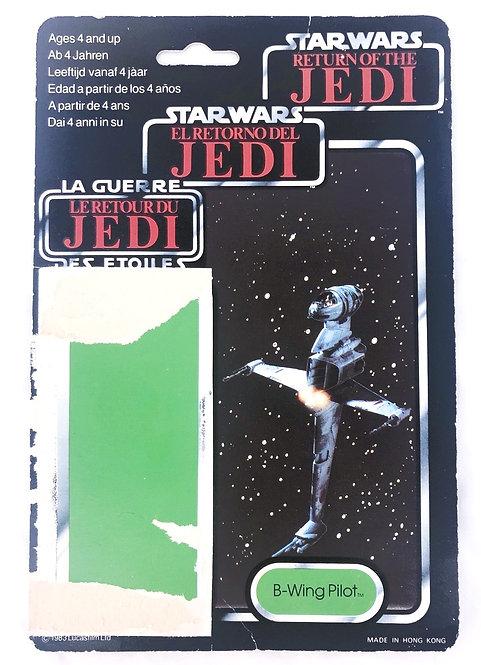 Vintage Star Wars ROTJ Tri-Logo B-Wing Pilot Backing Card