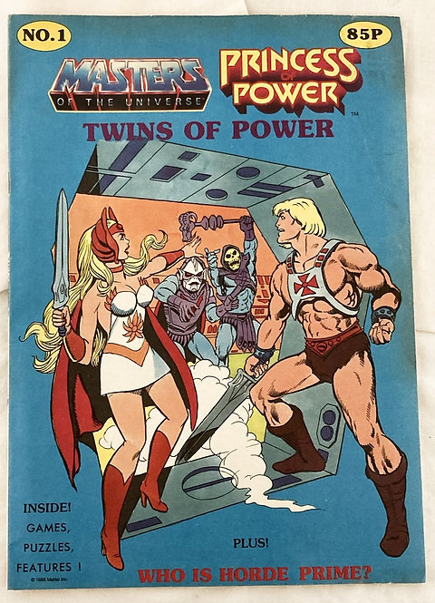 He-Man Masters Of The Universe And She-Ra Twins Of Power Comic No1 Mattel 1986
