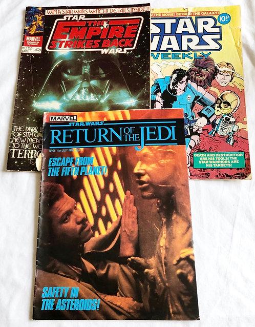 Vintage Star Wars Comics ste