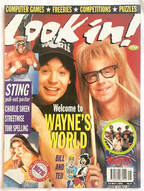 Look In! No #21 Wayne's World Sting WCW 90210 1992