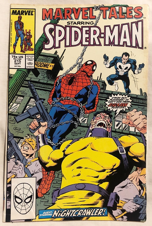 Marvel Tales Starring Spider-Man And Punisher No 215 September 1988