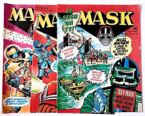 M.A.S.K. Comic Set U.K. 1986