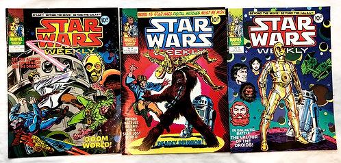 Vintage Star Wars Weekley Comic  Set #23 #26 #29