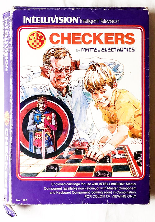Checkers Intellivision Intelligent Television U.K. (PAL)