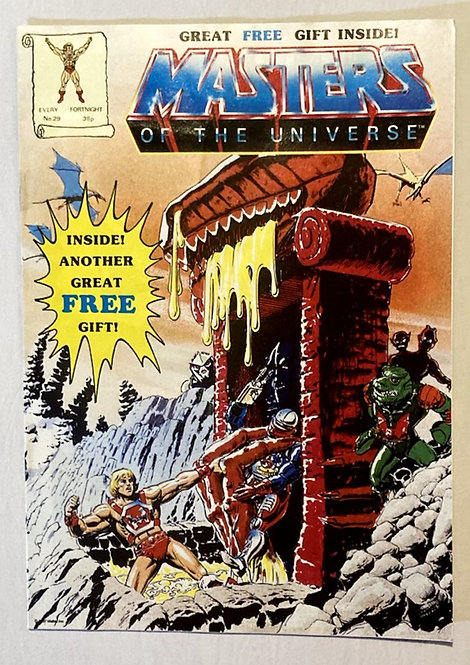 He-Man And The Masters Of The Universe Comic No 29 With Free Gift 1987