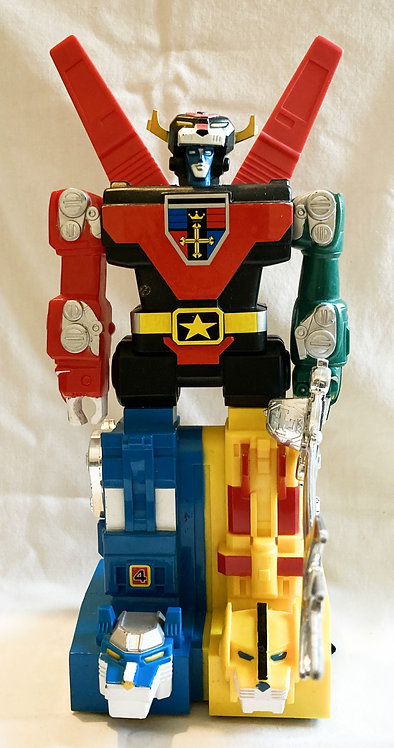 "Voltron Lion Force Computer Control Motorized Robot Box 11"" Tall LJN 1981"