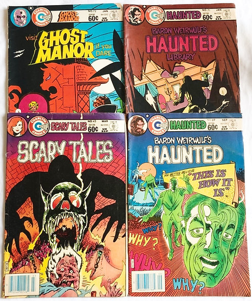 Vintage Charltons Horror Comic Set