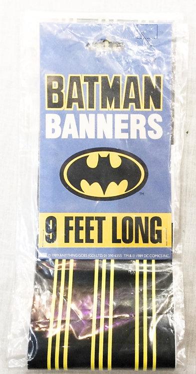 Batman Party Banner 9ft 1989