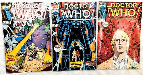 Vintage Doctor Who Comic Set #19 #18 #17 1985