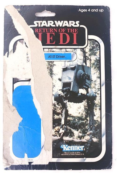 Vintage Star Wars ROTJ AT-ST Driver Backing Card