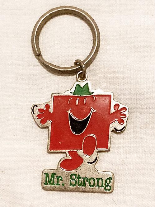 Mr Men Mr Strong Keyring 1997