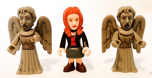 Doctor Who Character Building Micro Figure Amy And Weeping Angels Set
