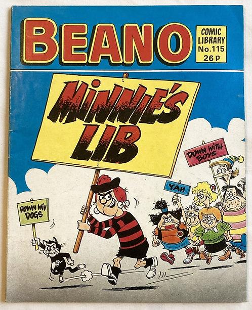 Beano Minnie's Lib No 115 1987