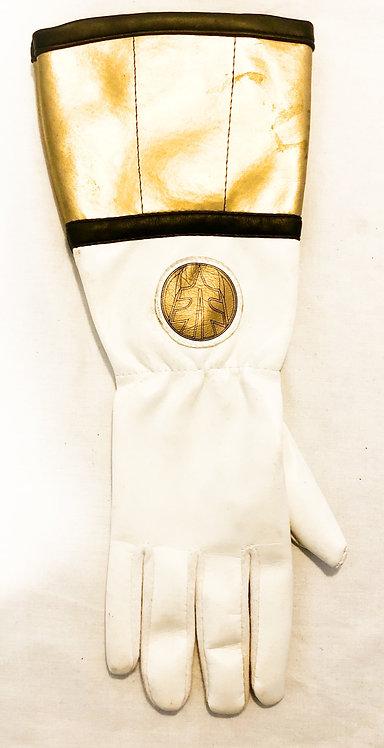 Mighty Morphin Power Rangers White Ranger Gloves Bandi 1994