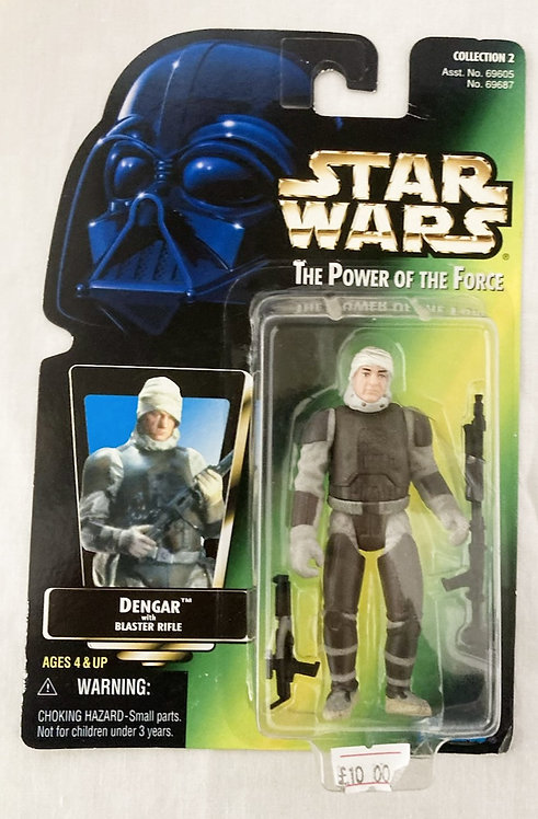 Star Wars The Power Force Dengar Japan Card Back Kenner 1995