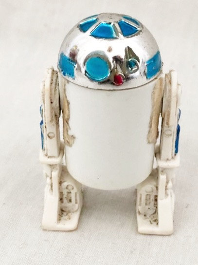 Vintage Star Wars R2D2 Silver Dome (Working Click)  Kenner 1977Silver Dome