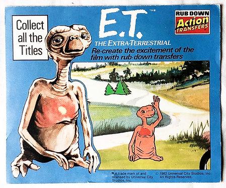 E.T. Rub Down Action Transfers Blue Set 1982