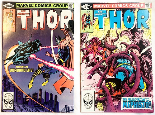The Mighty Thor #309 And  #310  Marvel 1991