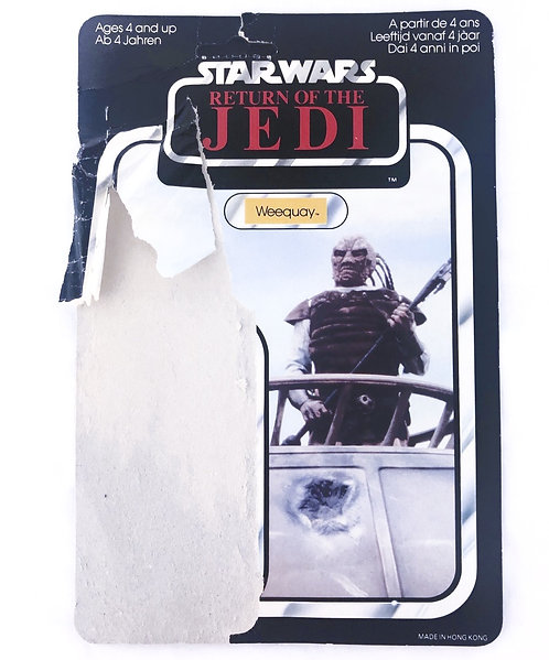 Vintage Star Wars ROTJ Weequay Backing Card