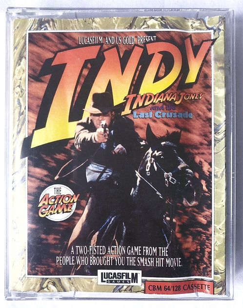 Indy  Indian Jones And The Last Crusede C64 Cassette