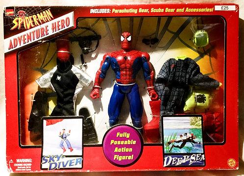 Spider-Man Adventure Hero Sky Diver Toy Biz 2000