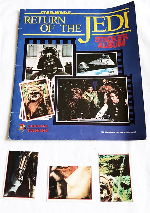 Vintage Star Wars Return Of The Jedi Sticker Book and Stickers 1983
