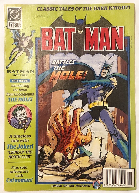 DC Batman No. 17 London Edition Magazines UK 1989