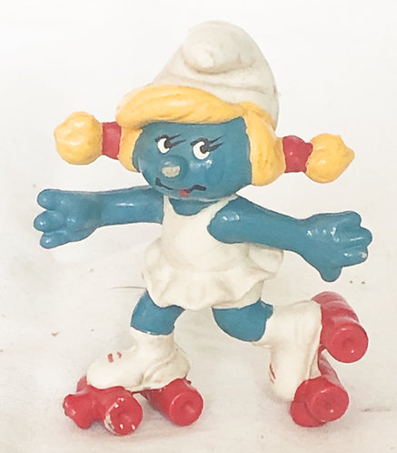 Smurfs Smurfette Skates Smurf 1980