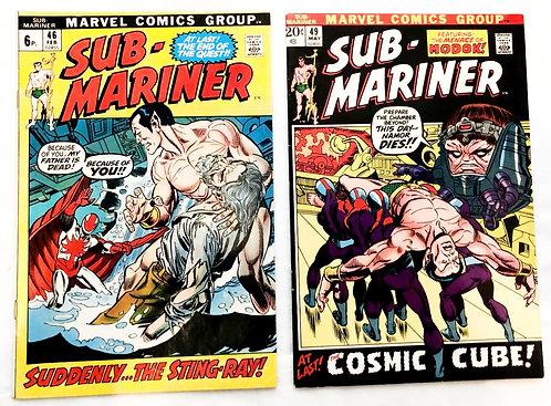 Sub-Mariner Marvel Comic Set #46 #49 1972