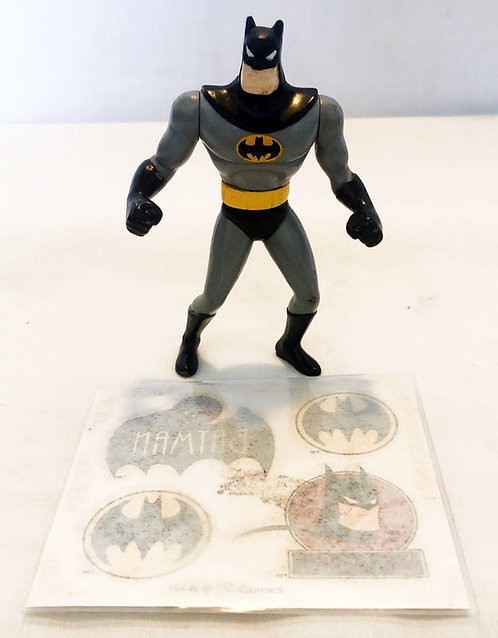 Batman The Animated Adventures Figure And Tattoo Set Kenner 1991