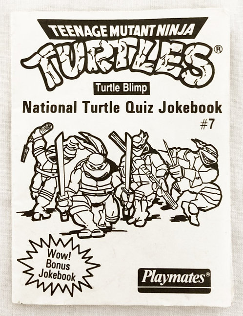 Teenage Mutant Ninja Turtles Blimp National Turtle Quiz Jokebook #7
