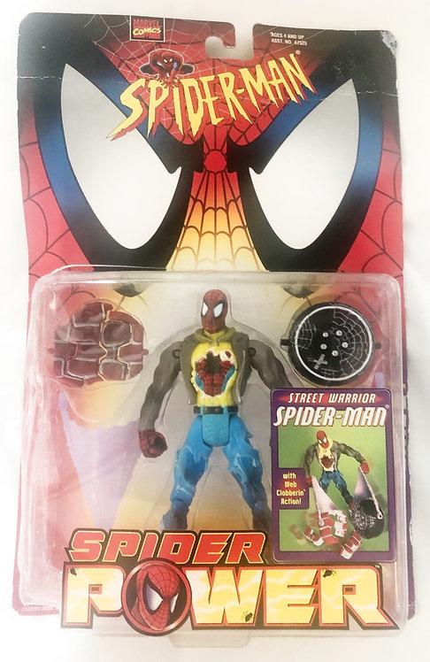 Spider-Man Spider Power Street Warrior Toy Biz 1998