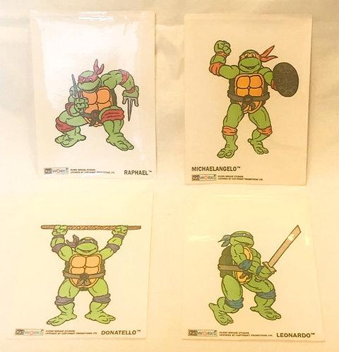 Teenage Mutant Hero Turtles Vintage Sticker Set 1990