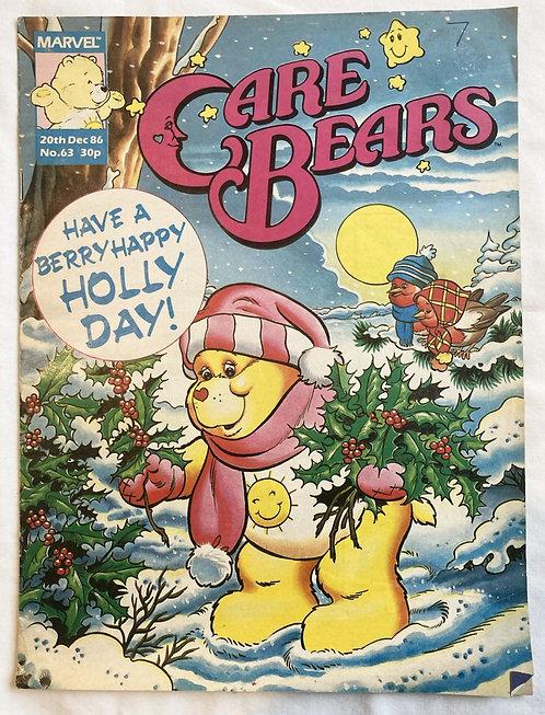 Care Bears No 63 Christmas Marvel December 1986