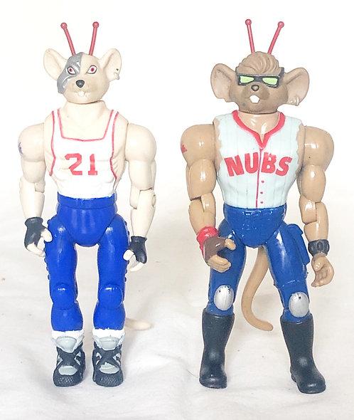 Biker Mice From Mars Sports Bro's Home-Run Throttle And Slam-Dunk Vinnie 1995