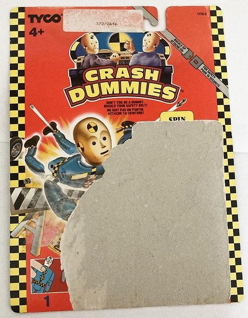 Crash Dummies Spin Backing Card Tyco 1991