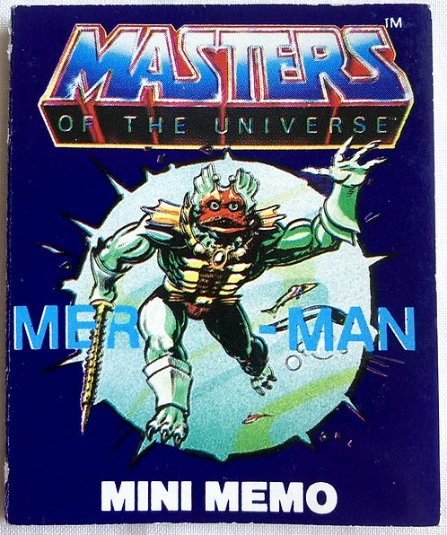 He-Man And The Masters Of The Universe Fan Club Mer-Man Mini Memo 7c