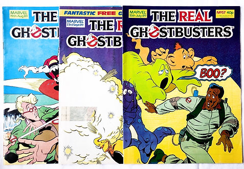 The Real Ghostbusters Comic Set Marvel U.K. 1989
