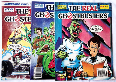 The Real Ghostbusters Comic Set Marvel U.K. 1990