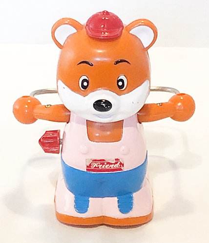Vintage Skipping Bear Wind-Up Toy Park 1987