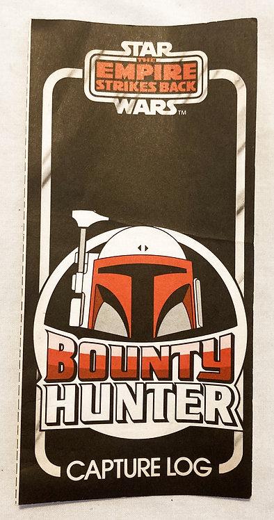 Vintage Star Wars Bounty Hunter Capture Log 1983