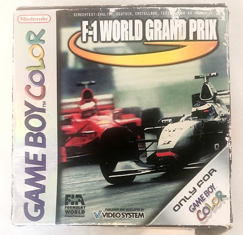 F-1 World Grand Prix Nintendo Game Boy Colour U.K. (PAL)