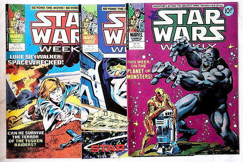 Vintage Star Wars Comic Set Marvel U.K.