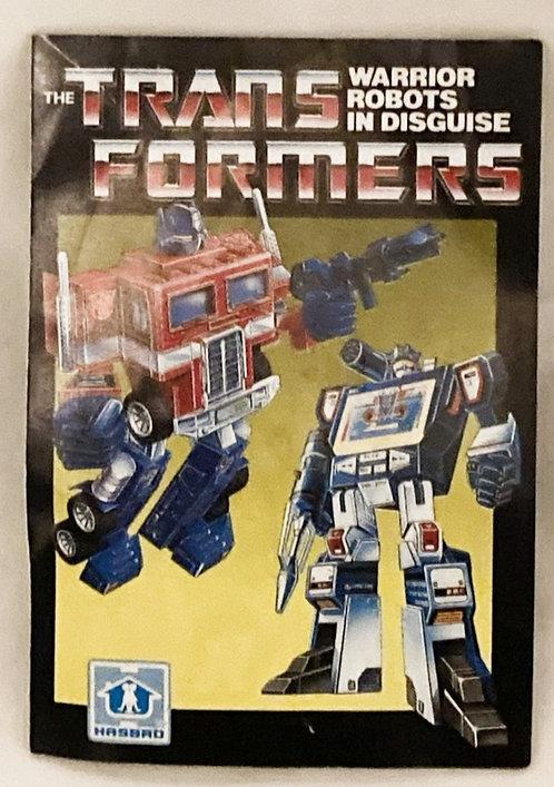 Vintage Transformers G1 Insert Brochere Takara 1985