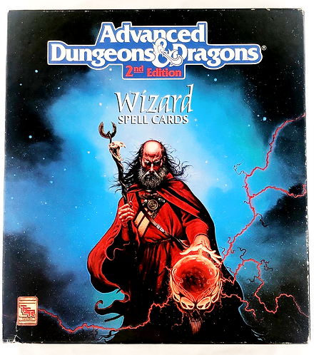 Advanced Dungeons And Dragons 2nd Edition Wizard Spell Cards